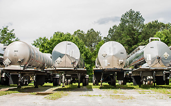 Tank Trucks at E & C Chemicals